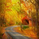 Autumn - Just past the bend by Michael Savad