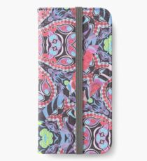 Pencil Print Diagonals Fall Into Winter Design Collection by Green Bee Mee iPhone Wallet/Case/Skin