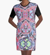 Pencil Print Diagonals Fall Into Winter Design Collection by Green Bee Mee Graphic T-Shirt Dress