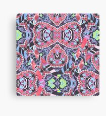 Pencil Print Diagonals Fall Into Winter Design Collection by Green Bee Mee Canvas Print