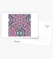 Pencil Print Diagonals Fall Into Winter Design Collection by Green Bee Mee Postcards