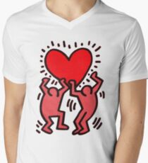 Keith Haring Men's V-Neck T-Shirt