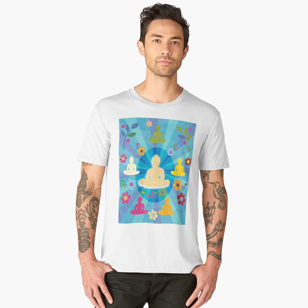 Radiating Buddha and Sangha Men's Premium T-Shirt Front