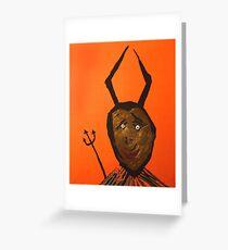 Diable - Devil Greeting Card