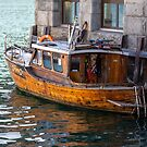 Old Fishing Boat in Bergen, Norway by Robert Kelch, M.D.