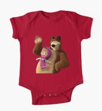 Masha and the Bear 3  One Piece - Short Sleeve
