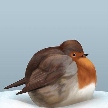 Satisfied robin. by ikerpazstudio