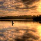 Anglers Dawn (Portrait) - Narrabeen Lakes, Sydney - The HDR Experience by Philip Johnson