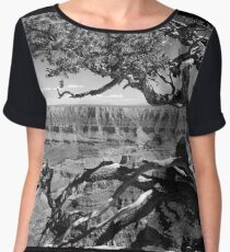 Tree Overlooking the Canyon Chiffon Top