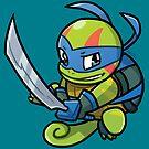Ninja Squirtle Leonardo by pomodoko