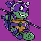 Ninja Squirtle Donatello by pomodoko