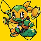 Ninja Squirtle Michelangelo by pomodoko