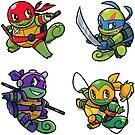 Teenage Mutant Ninja Squirtles by pomodoko