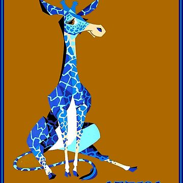AFRICA : Abstract Giraffe Travel Advertising Print by posterbobs
