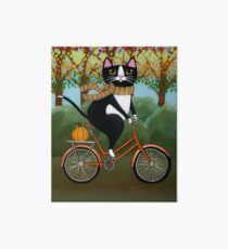 Cat on a Bicycle  Art Board