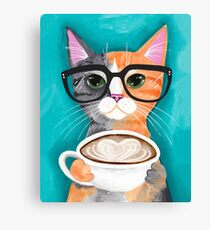 Kitten's Latte of Love Canvas Print