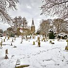 All Saints church in the snow by Geoff Carpenter