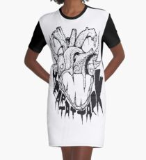 Monsterz Tea Party by LAST COW - Heart Attack (Black) Robe t-shirt