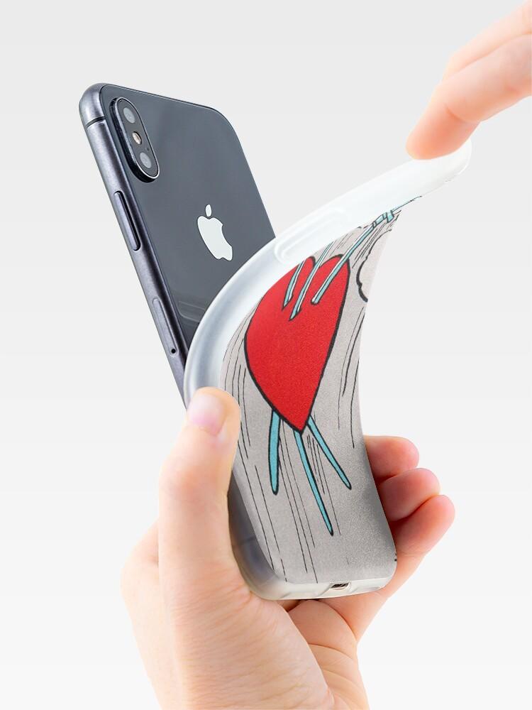 Vista alternativa de Funda y vinilo para iPhone Tres de espadas Tarot