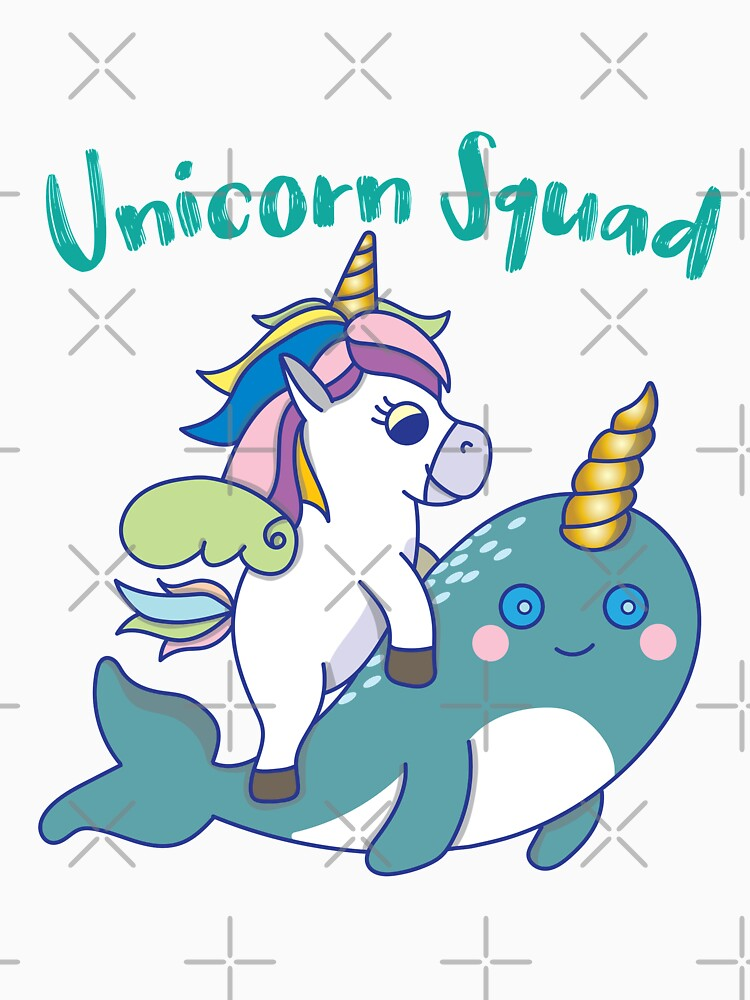 Unicorn Squad Riding Narwhal by rkhy
