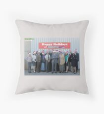 Christmas at The Office Throw Pillow