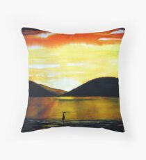 Golden Sunset - Seascape Throw Pillow