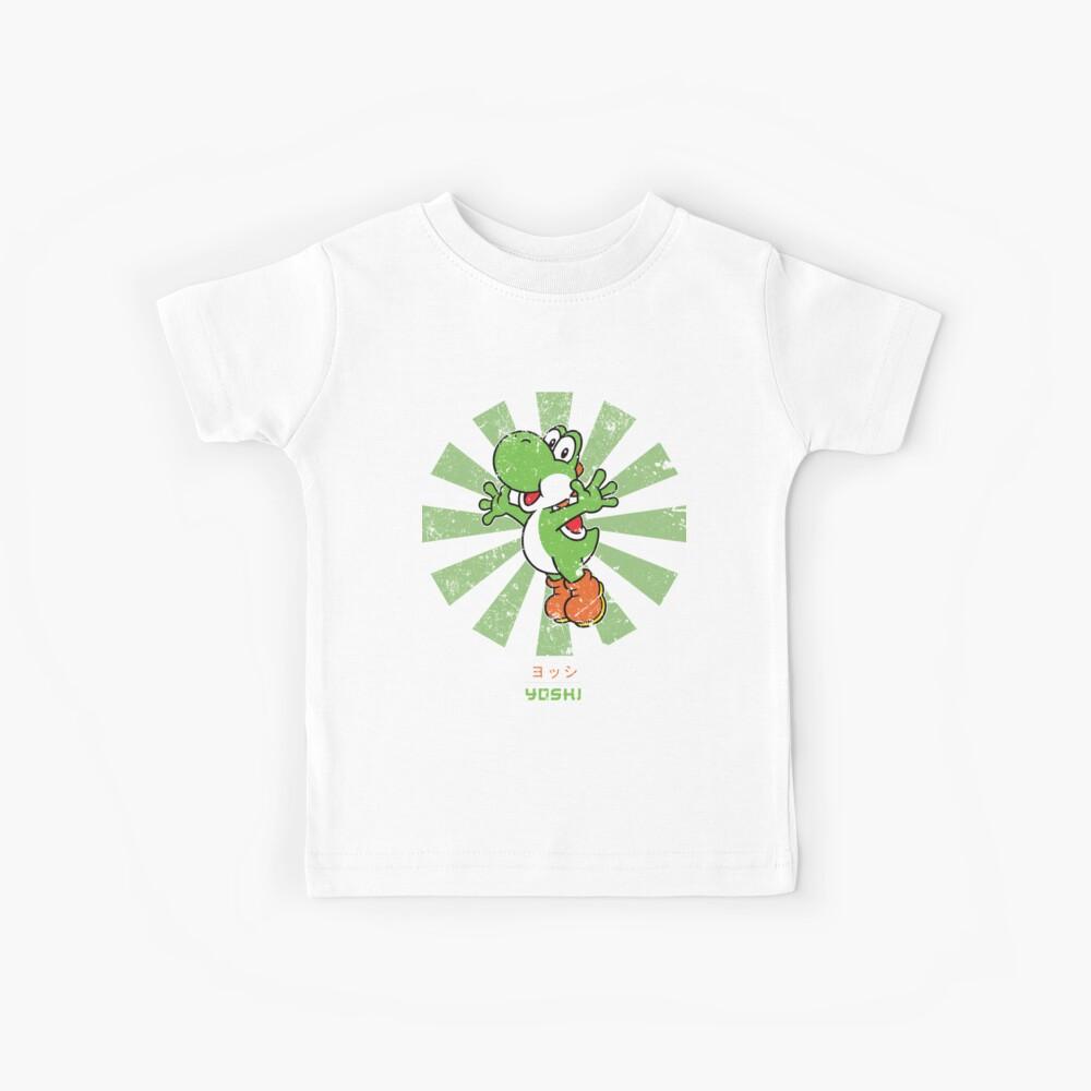 Yoshi Retro Japanischer Super Mario Kinder T-Shirt