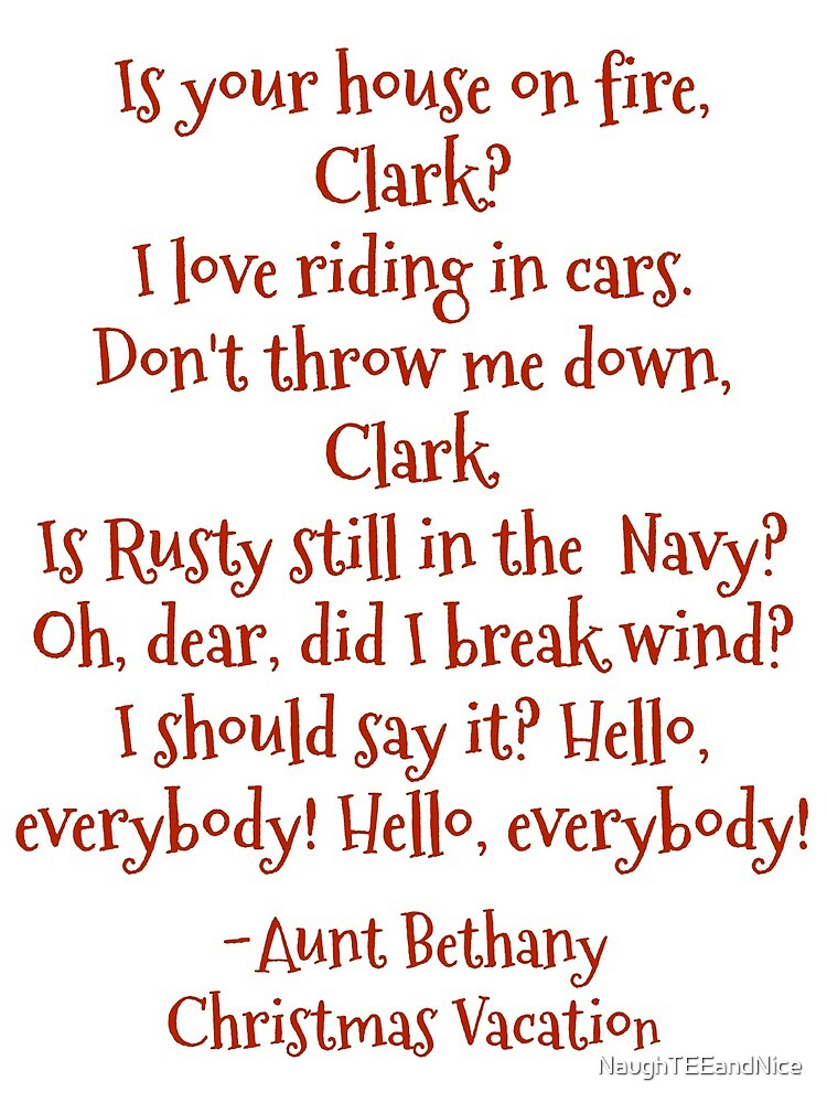 Funny Aunt Bethany Quotes From Christmas Vacation Movie By