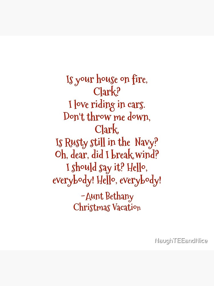 Funny Aunt Bethany quotes from Christmas Vacation movie