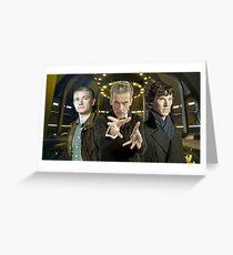 John,Twelve and Sherlock Greeting Card