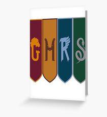 Hogwarts houses Greeting Card