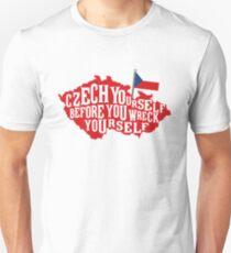 Funny Czech Republic Czech Flag Prague Slovak  Unisex T-Shirt