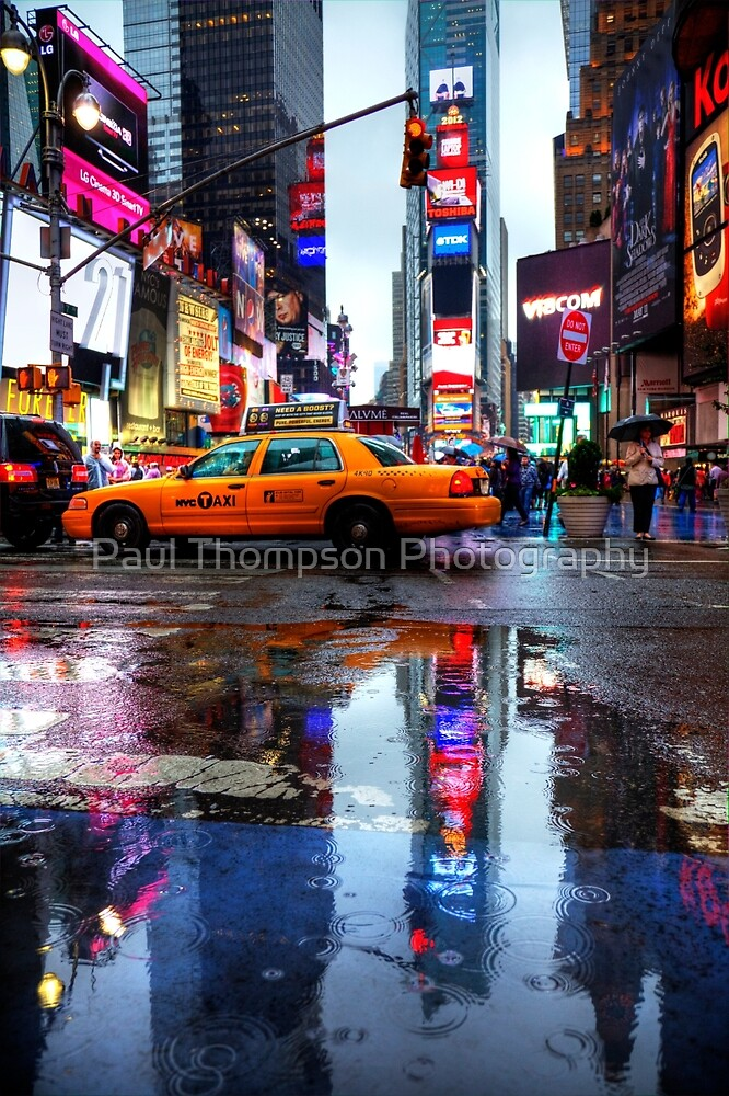 Times Square Puddle by Paul Thompson Photography