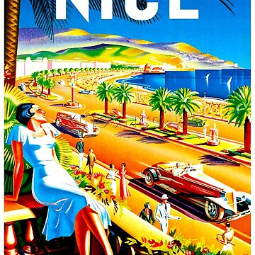NICE : Vintage French Riviera Travel Advertising Print by posterbobs