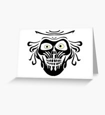 Hatbox Ghost - Wallpaper-Style Greeting Card