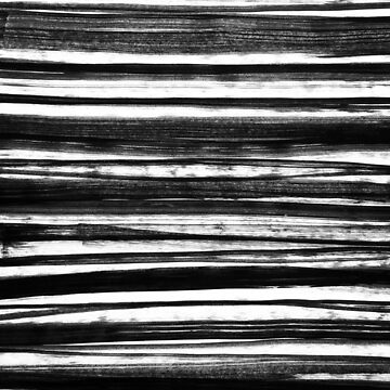 Black and White Organic Stripes by melaniebiehle