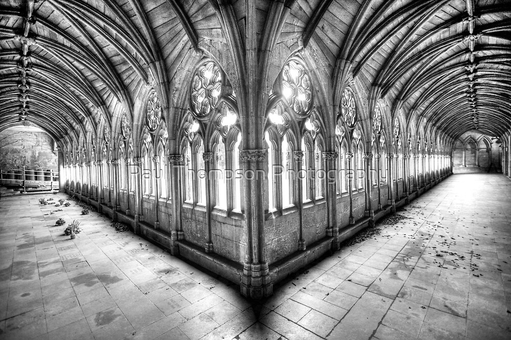 Lincoln Cathedral Cloisters by Paul Thompson Photography