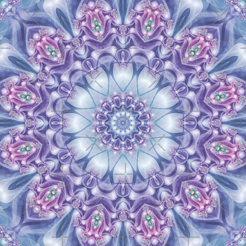 Blue, Purple, and Pink Mandala by Kelly Dietrich