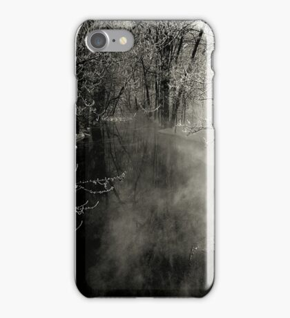 In the misty morning, on the edge of time iPhone Case/Skin