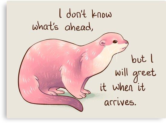 """""""I Don't Know What's Ahead"""" Otter by thelatestkate"""