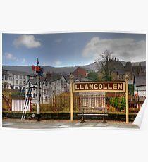 Llangollen Station Poster