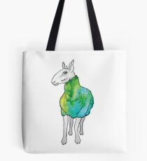 Psychedelic sheep: Blue Faced Leicester, teal/green Tote Bag