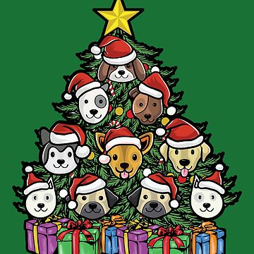 Christmas Tree Dogs Christmas by frittata