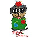 Rottweiler Puppy Christmas! by orichalbaud
