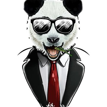 Panda Suit Shirt by frittata
