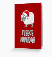 Vlies Navidad Grußkarte