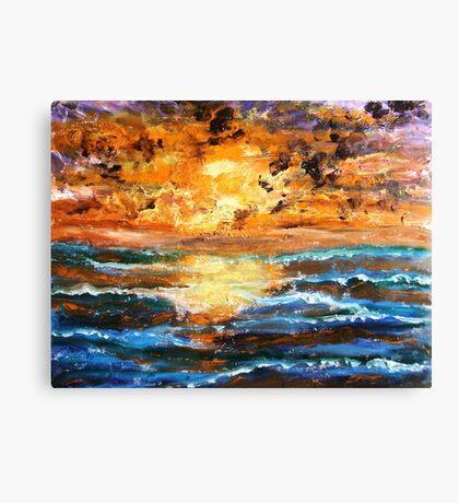 Sea Sunset Canvas Print