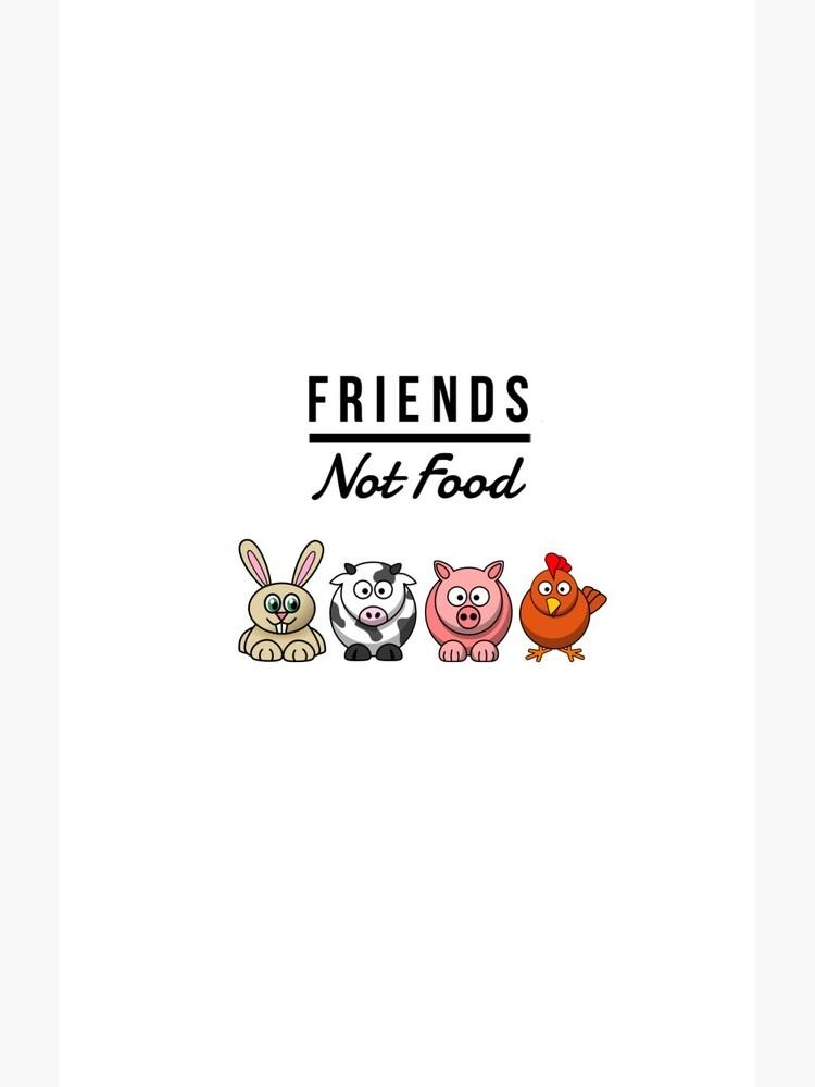 Friends Not Food Vegan Funny Gift Idea de FunnyGiftIdeas