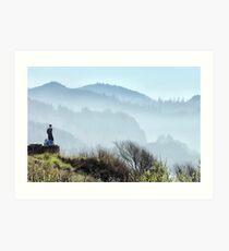 Enjoying the Oregon Coastline Art Print