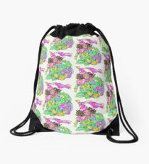Princess and Blueberry Drawstring Bag
